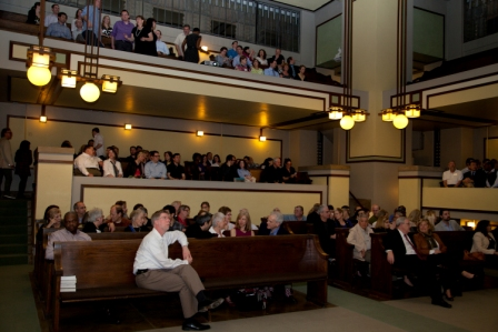 Q&A after screening in Unity Temple Sanctuary