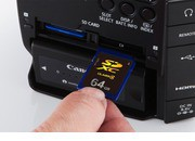 Canon C100 Dual Card Slots