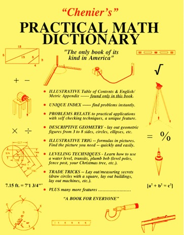 Chenier's Practical Math Dictionary and Application Guide