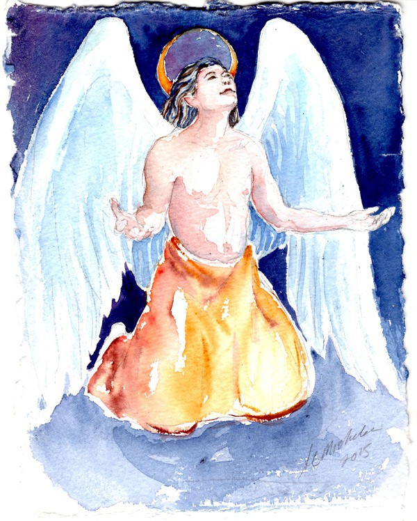 Guardian Angel painting channeled by Christie Michelsen