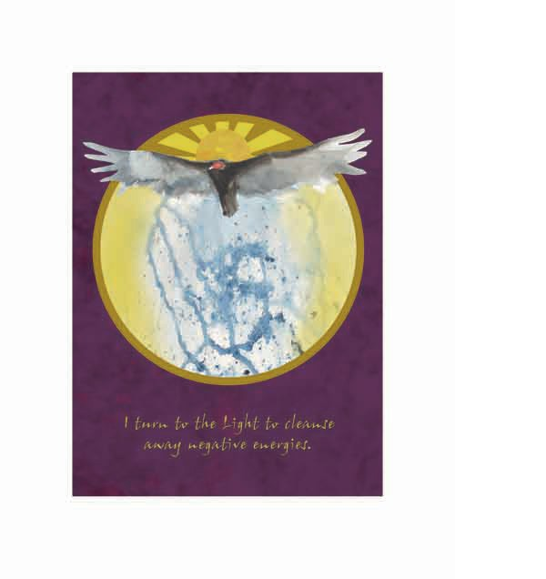 Spirit Animal affirmation poster - vulture