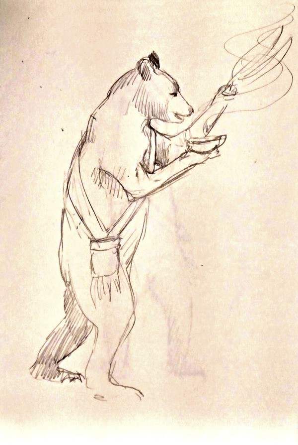 Medicine bear drawing