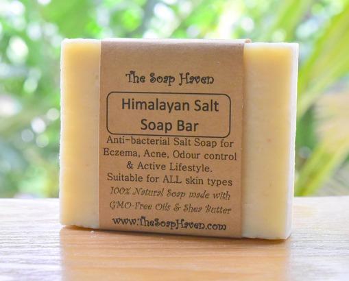 all natural handmade Himalayan Salt soap bar for eczema and psoriasis cure