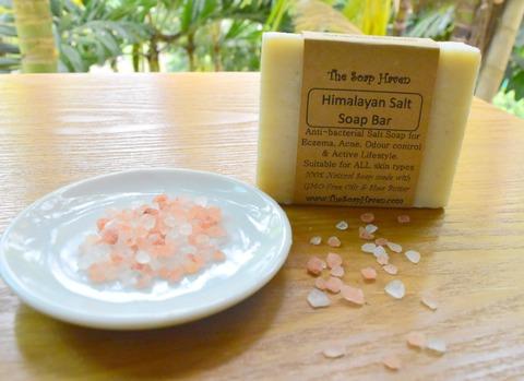 himalayan pink salt bar soap for psoriasis and eczema treatment