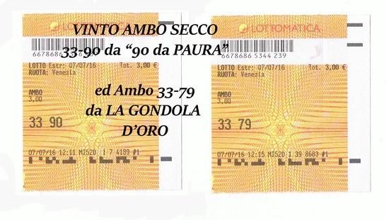 90 da Paura e LA GONDOLA D'ORO 07/07/2016