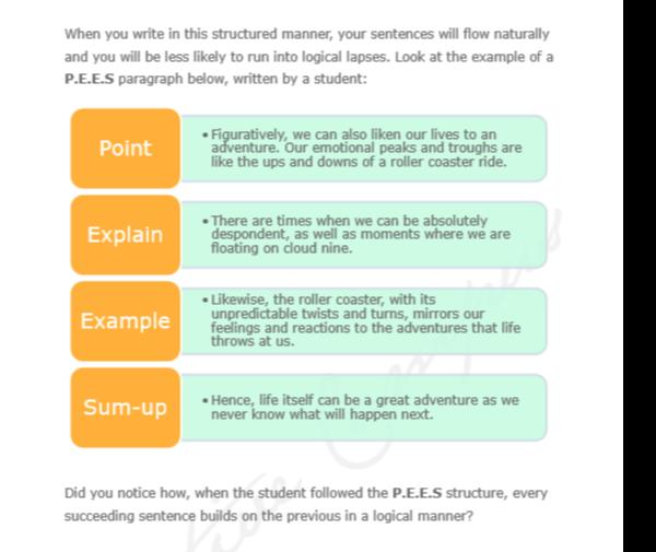 how to write good pee paragraphs