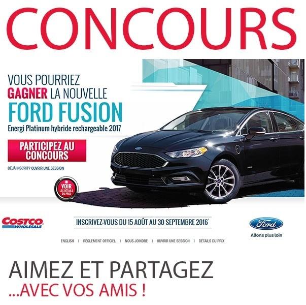 ★Concours★ Gagner La Nouvelle Ford Fusion