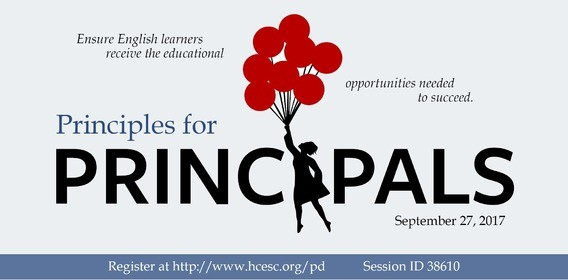 Principles for Principals - September 27th