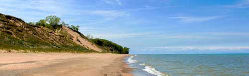 Central Beach at Indiana Dunes National Lakeshore by the National Park Service