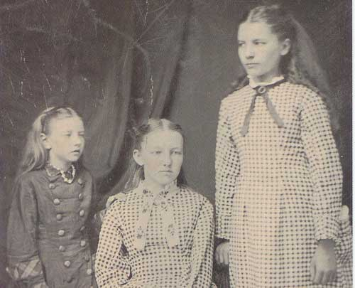 Carrie, Mary and Laura Ingalls, 1879