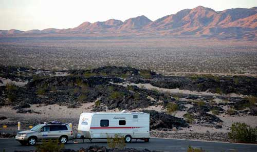 Legends Boondocking at Amboy Crater