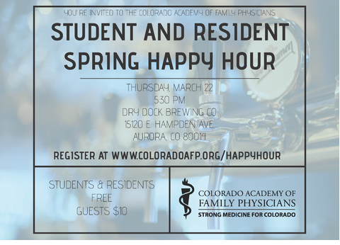 Student & Resident Spring Happy Hour