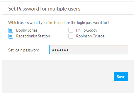 Set Password for multiple users
