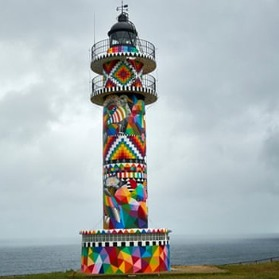 Dazzling makeover of 90-year-old Spanish lighthouse divides opinion