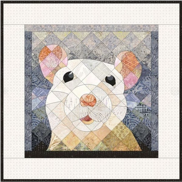 Christine Shearer  How cute is that mouse?! If you like that little guy, you'll love the other designs EQ user Christine Shearer has created! See her Instagram page (@cmshea058) to see dogs, cats, birds, and more!