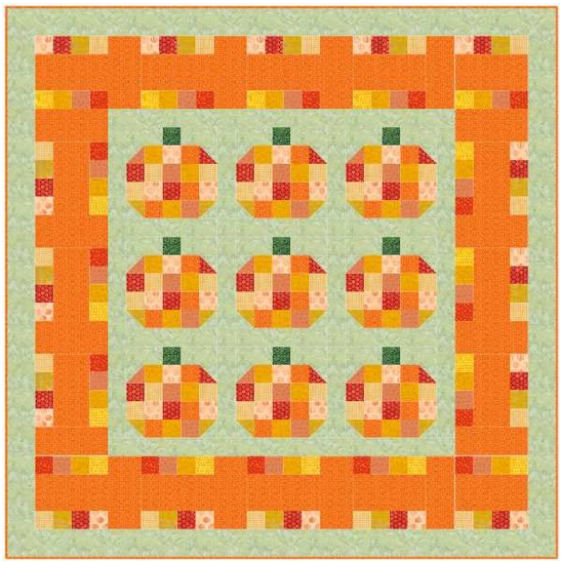 """EQ8 Block Spotlight  Mary Groesbeck says, """"I needed a border for my Fenced Pumpkin Patch and when I saw this block I knew I had found it. This block did the trick."""" See what block she's talking about and join in on this month's Block Spotlight! View EQ8 Block Spotlight >"""