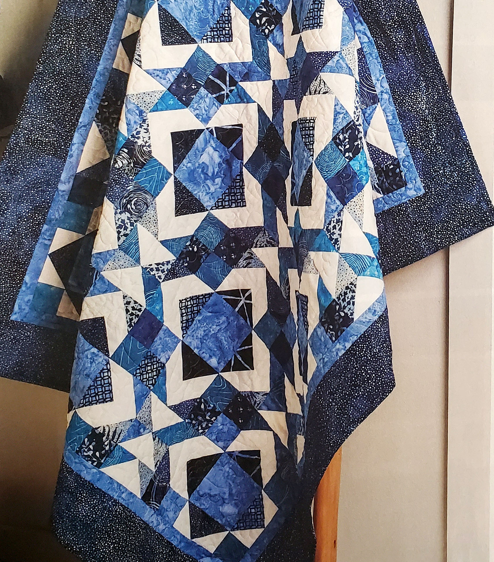 """Teriann Harms  EQ8 user, Teriann Harms is featured in the Winter 2020 issue of Quilter's World magazine for her """"Blueberry Cobbler"""" quilt! Get the pattern in the magazine or buy it online from Annie's Craft Store."""